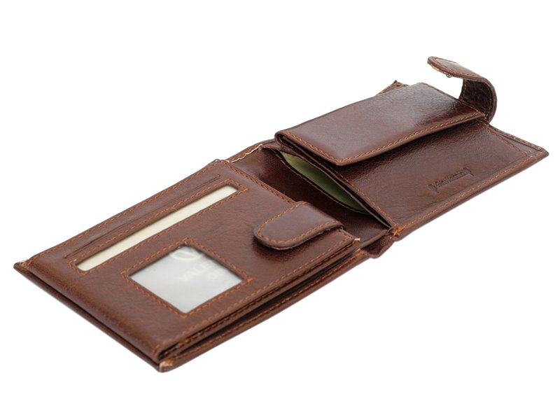 Leather Wallet Brown Valentini Gino-4320