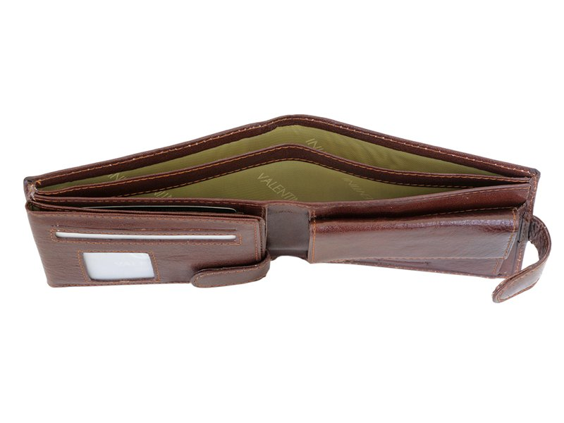 Leather Wallet Brown Valentini Gino-4324