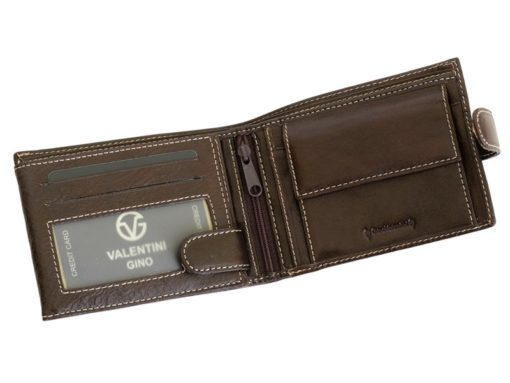 Gino Valentini Man Leather Wallet Brown-6671