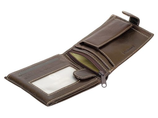 Gino Valentini Man Leather Wallet Brown-6684