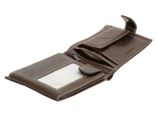 Gino Valentini Man Leather Wallet Brown-6677