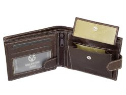 Gino Valentini Man Leather Wallet Black-6685