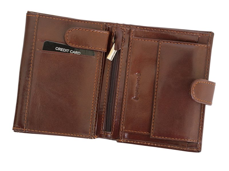 Gino Valentini Man Leather Wallet Brown-4528