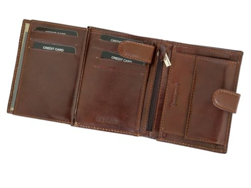 Gino Valentini Man Leather Wallet Brown-4525