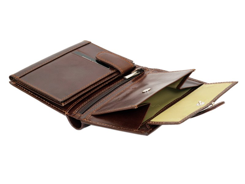 Gino Valentini Man Leather Wallet Brown-4530
