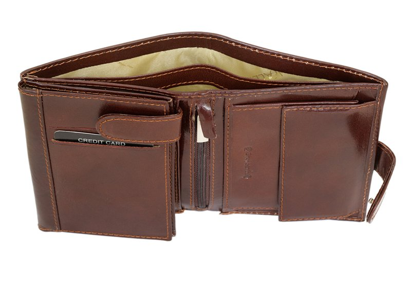 Gino Valentini Man Leather Wallet Brown-4527