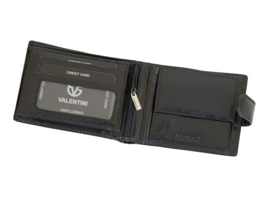 Gino Valentini Man Leather Wallet Black-6708