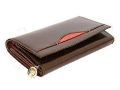 Renato Balestra Leather Women Purse/Wallet Dark Brown Orange-5515