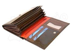 Renato Balestra Leather Women Purse/Wallet Dark Brown Orange-5508