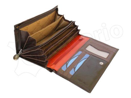 Renato Balestra Leather Women Purse/Wallet Dark Brown Orange-5513