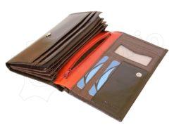 Renato Balestra Leather Women Purse/Wallet Dark Brown Orange-5505