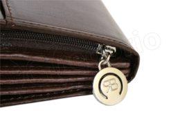 Renato Balestra Leather Women Purse/Wallet Dark Brown Orange-5510