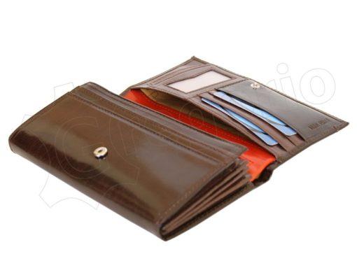 Renato Balestra Leather Women Purse/Wallet Dark Brown Orange-5511