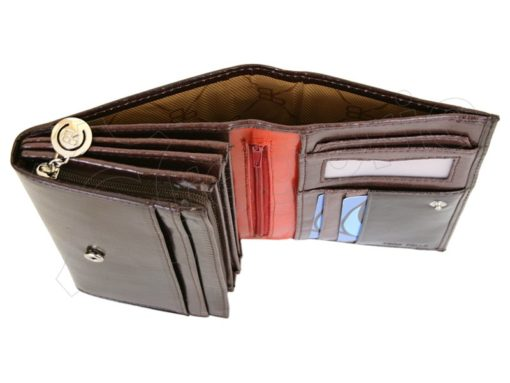 Renato Balestra Leather Women Purse/Wallet Dark Brown Orange-5504