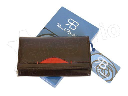 Renato Balestra Leather Women Purse/Wallet Dark Brown Orange-5514