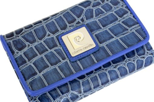 Pierre Cardin Women Leather Purse Medium Size Blue-6146