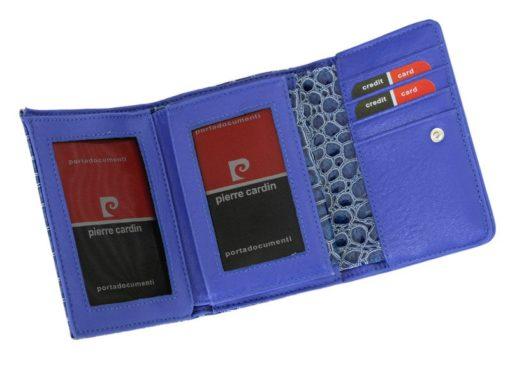 Pierre Cardin Women Leather Purse Medium Size Red-6180