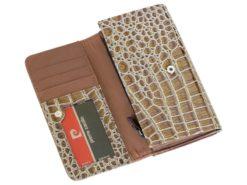 Pierre Cardin Women Leather Purse Brown-6107