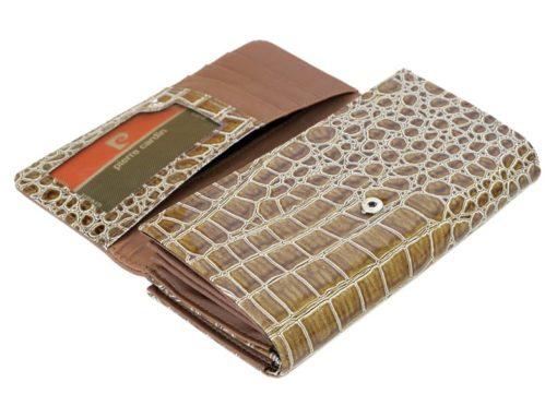 Pierre Cardin Women Leather Purse Brown-6111