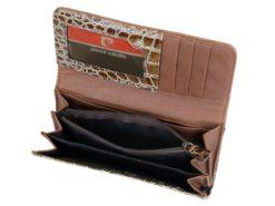 Pierre Cardin Women Leather Purse Brown-6117