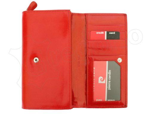 Pierre Cardin Women Leather Wallet/Purse Dark Red-6006