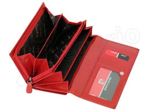 Pierre Cardin Women Leather Wallet/Purse Dark Red-6011