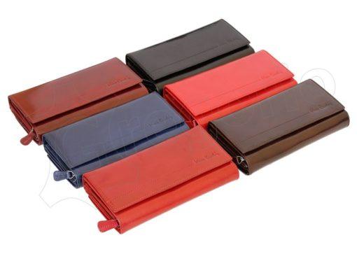 Pierre Cardin Women Leather Wallet/Purse Dark Red-6009