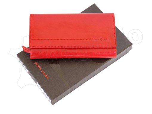 Pierre Cardin Women Leather Wallet/Purse Dark Red-6012