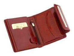 Giovani Woman Leather Wallet Swarovski Line Red-4393