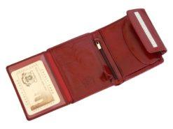 Giovani Woman Leather Wallet Swarovski Line Red-4381