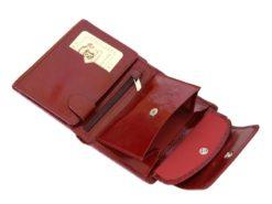 Giovani Woman Leather Wallet Swarovski Line Red-4385