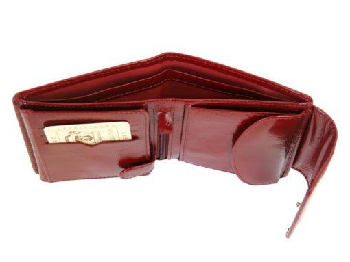 Giovani Woman Leather Wallet Swarovski Line Red-4383