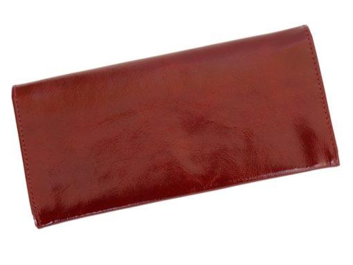 Giovani Woman Leather Wallet Swarovski Line Red-4484