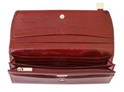 Giovani Woman Leather Wallet Swarovski Line Brown-4450