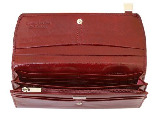 Giovani Woman Leather Wallet Swarovski Line Red-4469