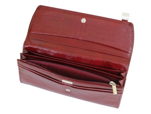 Giovani Woman Leather Wallet Swarovski Line Brown-4455