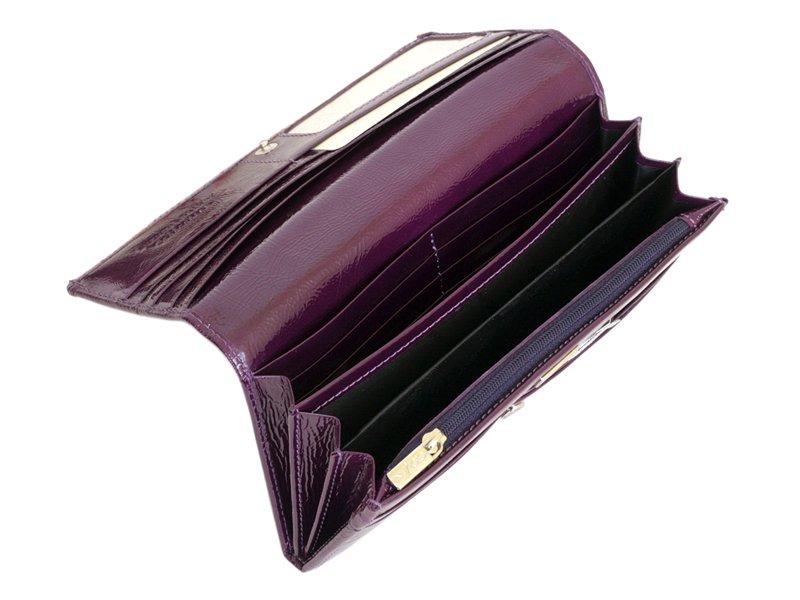 Giovani Woman Leather Wallet Swarovski Line Grey-4429