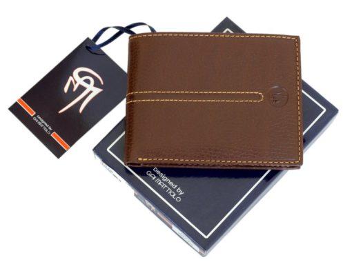 Gai Mattiolo Man Leather Wallet Orange-6587