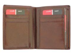 Pierre Cardin Man Leather Wallet Dark Brown-4936