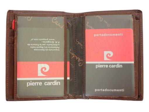 Pierre Cardin Man Leather Wallet Dark Brown-4934