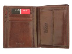 Pierre Cardin Man Leather Wallet Dark Brown-4939