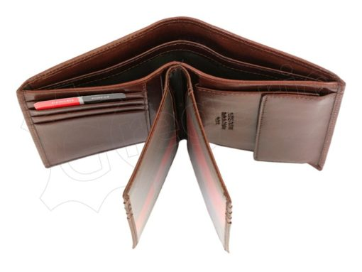 Pierre Cardin Man Leather Wallet Dark Brown-4927