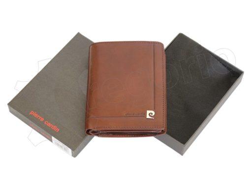 Pierre Cardin Man Leather Wallet Dark Brown-4938