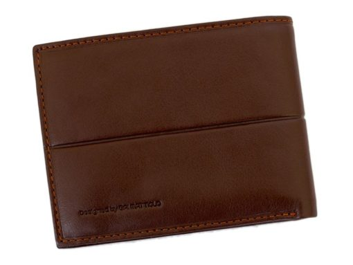 Gai Mattiolo Man Leather Wallet with coin pocket Brown-6381