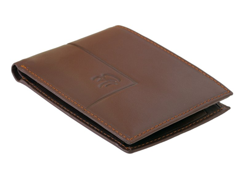Gai Mattiolo Man Leather Wallet with coin pocket Brown-6380