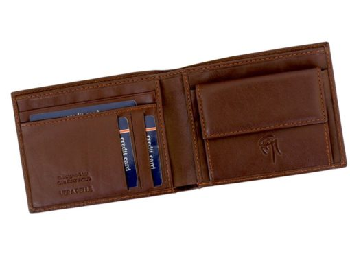 Gai Mattiolo Man Leather Wallet with coin pocket Green-6365