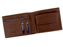 Gai Mattiolo Man Leather Wallet with coin pocket Brown-6379