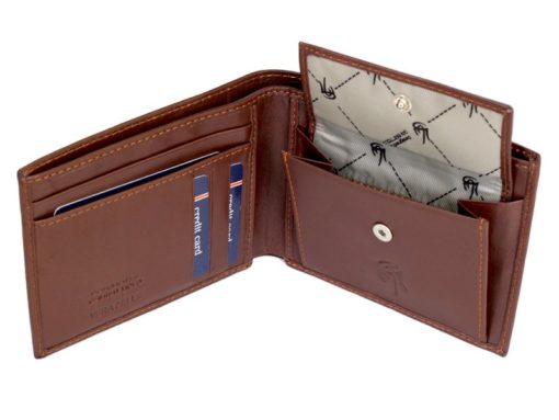 Gai Mattiolo Man Leather Wallet with coin pocket Brown-6385
