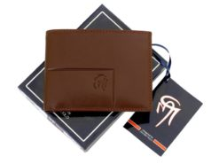 Gai Mattiolo Man Leather Wallet with coin pocket Brown-6386