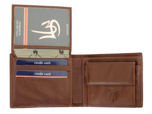 Gai Mattiolo Man Leather Wallet Small size Green-6294